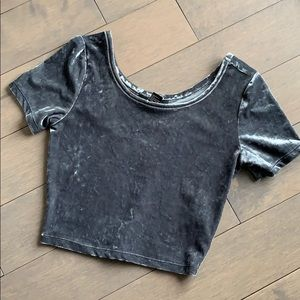 NWT Forever 21 Gray Velvet Crop Top - Small